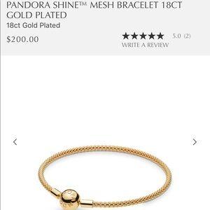 Pandora 18k gold plated mesh bangle